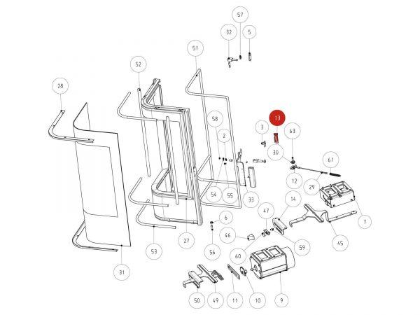 Rika Jazz Türverschluss | L01527 | Splitzeichnung Nr. 13