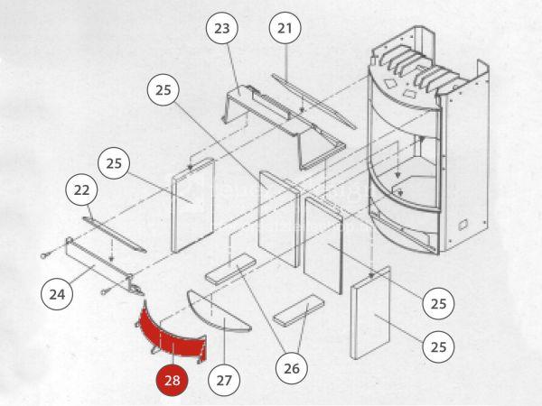 Rika Taurus Holzfänger metallic | Z31450 | Splitzeichnung Nr. 28