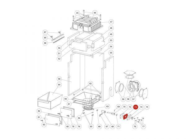 Lagerklemmplatte zu Rika Domo | Z35852 | Splitzeichnung Nr. 73