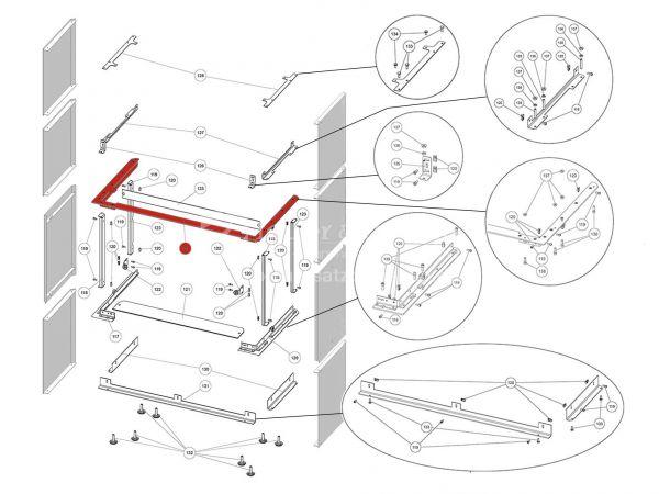 Rika Ambia Halterung für Seitenverkleidung | B18576 | Splitzeichnung Nr. 124