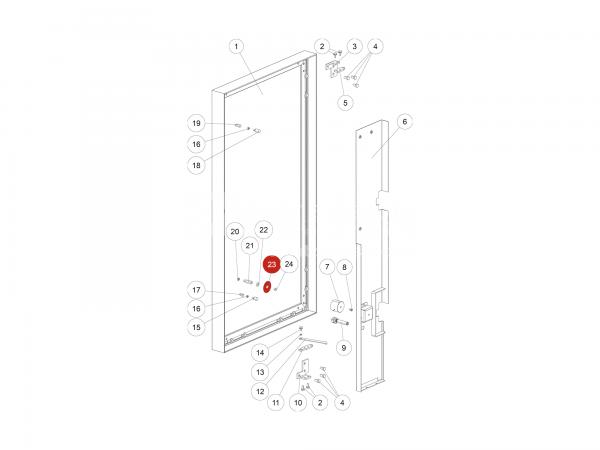 Magnetgegenscheibe zu Rika Domo | L02714 | Splitzeichnung Nr. 23