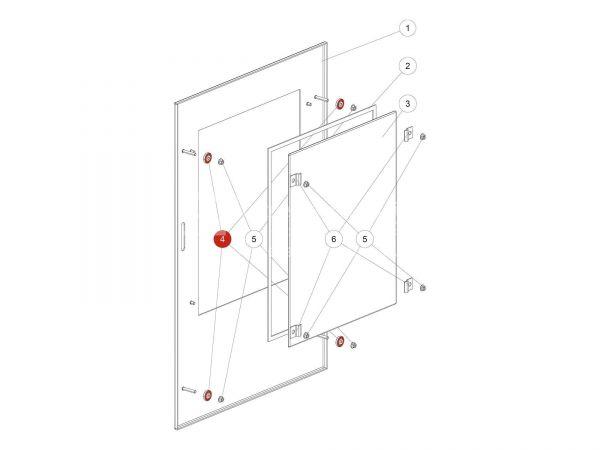Rändelmutter zu Rika Back | N112281 | Splitzeichnung Nr. 4 & Nr. 44