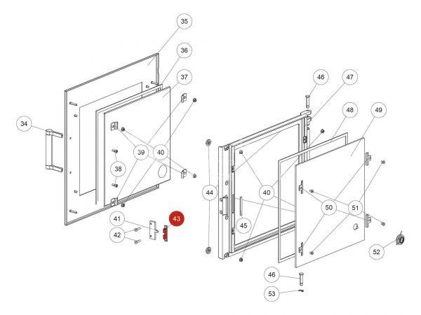 Doppelkugelschnapper zu Rika Back | N110461 | Splitzeichnung Nr. 43