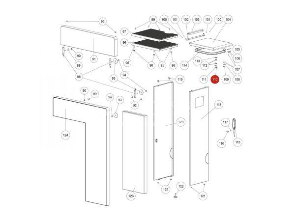Magnetschalter Unterteil zu Rika Domo | N111733 | Splitzeichnung Nr. 110