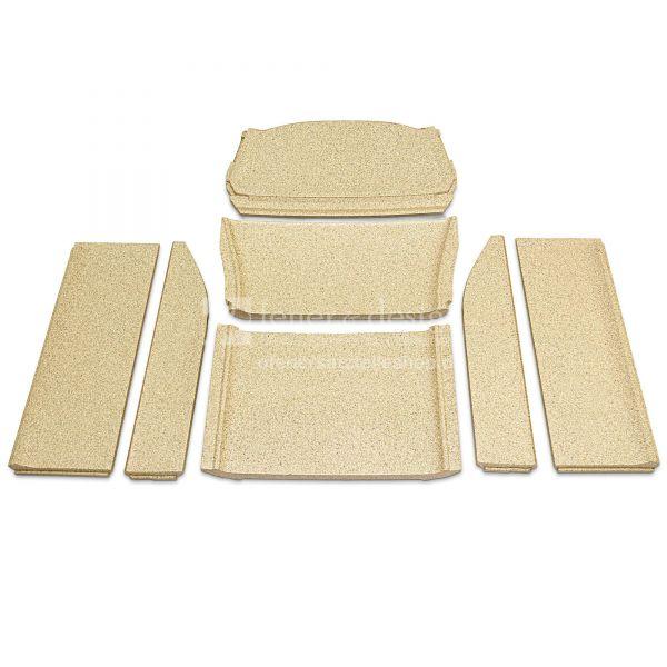 Contura 856 Style Feuerraumauskleidung | Vermiculitesatz ohne Seitenscheiben