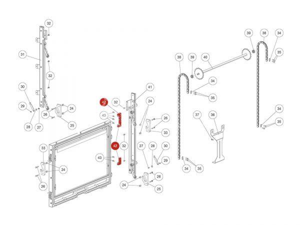 Rika Ambia Scharnierplatte | L03599 | Splitzeichnung Nr. 42