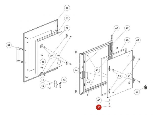 Wellensicherung D08 zu Rika Back | N104718 | Splitzeichnung Nr. 53