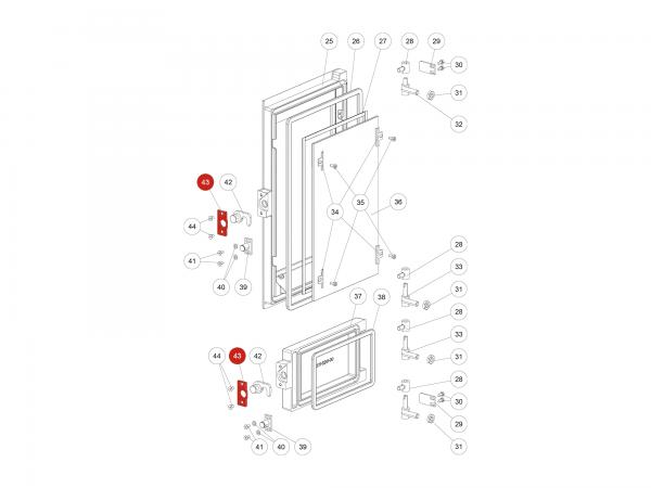 Verschlussplatte zu Rika Domo | L02647 | Splitzeichnung Nr. 43