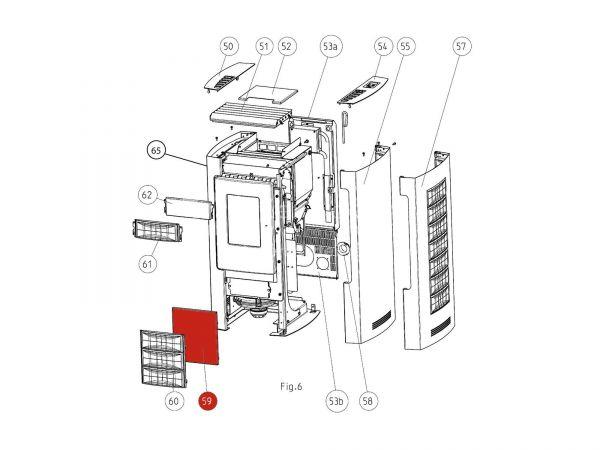 Verkleidung vorne unten silber zu Rika Memo | Z32424 | Splitzeichnung Nr. 59