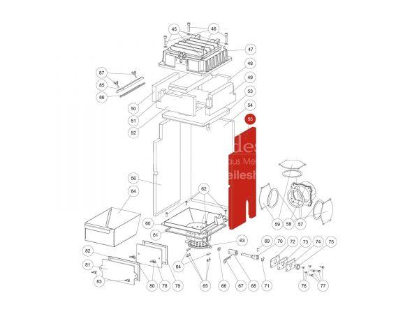 Innenauskleidung rechts zu Rika Domo | Z36602 | Splitzeichnung Nr. 55