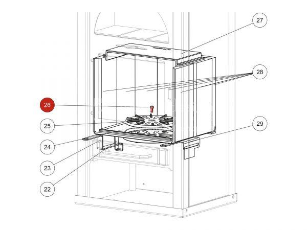 ISK-Schraube zu Rika Alpha II | N100061 | Splitzeichnung Nr. 26