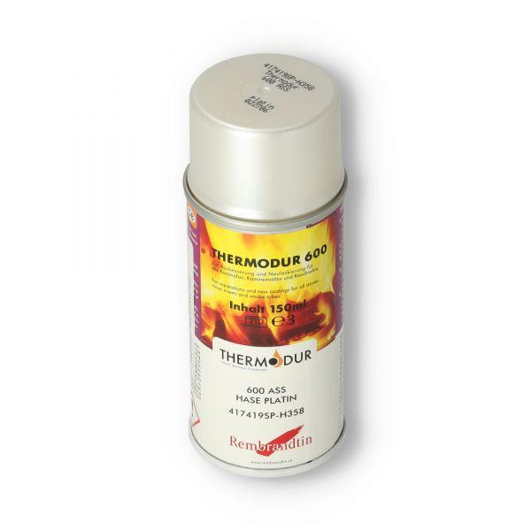 Hase Ofenspray   Ofenlack platin 150 ml   Thermodur 600 STAN   für Ofenrohre