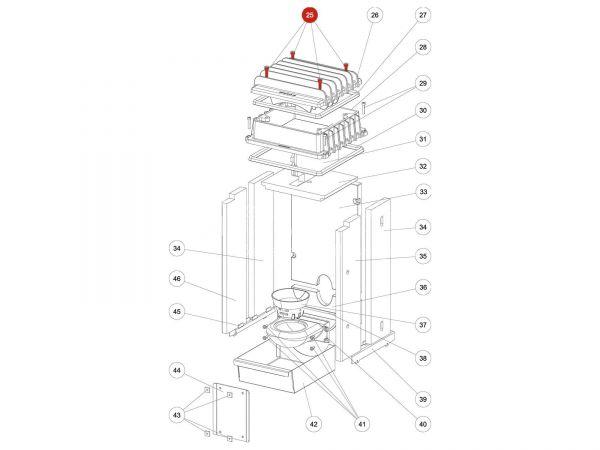 Rika Kapo ISK-Schraube M08x35   N112047   Splitzeichnung Nr. 25
