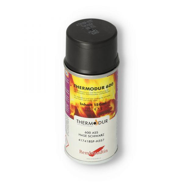 Hase Ofenspray   Ofenlack schwarz 150 ml   Thermodur 600 STAN   für Ofenrohre