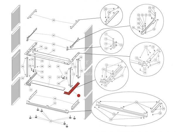 Rika Ambia Halterung für Seitenverkleidung rechts | B18660 | Splitzeichnung Nr. 129