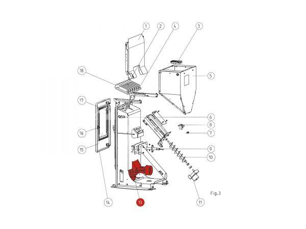 Gebläse komplett zu Rika Memo | B15587 | Splitzeichnung Nr. 13