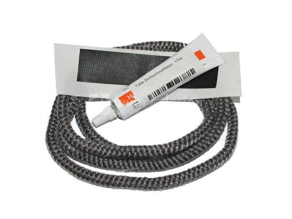 Türdichtung (Dichtschnur 1,5 m x 6 mm)  mit Kleber und Endband