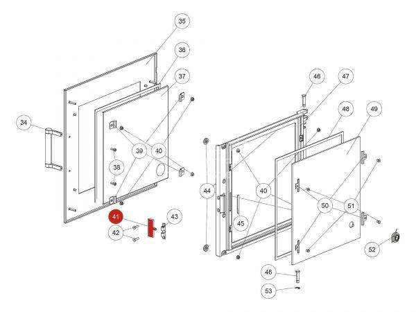 Verschlusszunge zu Rika Back   L03451   Splitzeichnung Nr. 41