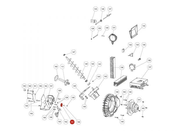 Schaltscheibe Kipprostkontakt zu Rika Domo | L02646 | Splitzeichnung Nr. 151