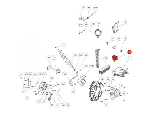 Zusatzplatine Motor inkl. Kabel zu Rika Domo | B16030 | Splitzeichnung Nr. 136
