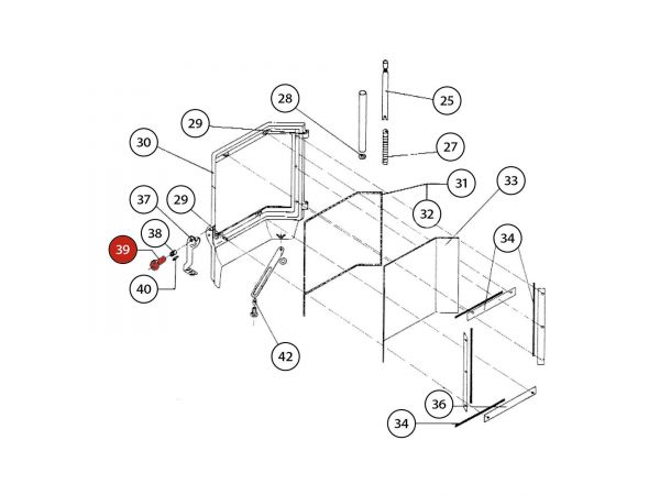 Linsenschraube mit ISK zu Rika Amato | N104622 | Splitzeichnung Nr. 39