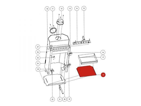 Rika Atrio Auflage für Aschelade | Z29641 | Splitzeichnung Nr. 18