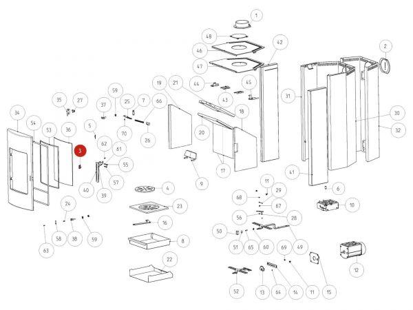 Rika Tema Verschlussplatte | B12322 | Splitzeichnung Nr. 3
