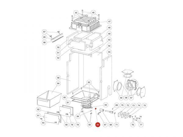 Mitnehmerplatte Kipprost zu Rika Domo | L01875 | Splitzeichnung Nr. 66