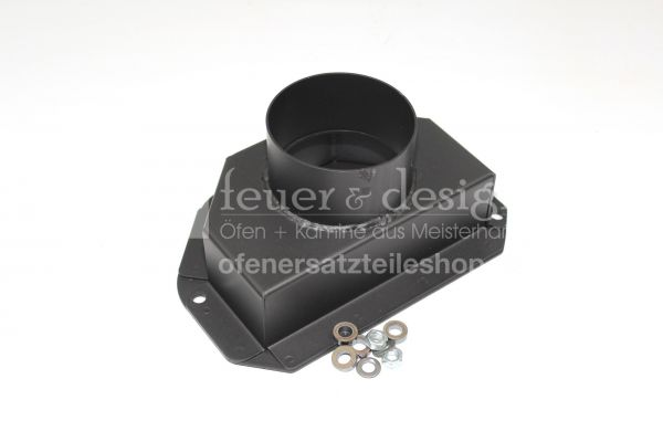 Termatech Frischluftstutzen DN 100 | TT22  schwarz ( nur für Verbrennungsluftset 45-712)