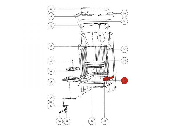 Rika Atrio Bodenschamott 2 | Z29410 | Splitzeichnung Nr. 34