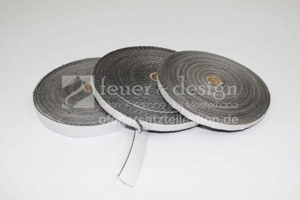 Kaminofen Türdichtung | Flachdichtung selbstklebend 20 x 2 mm | Länge nach Wahl