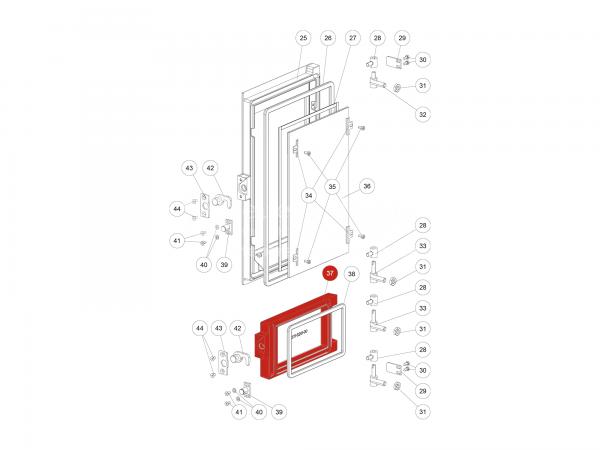 Tür schwarz zu Rika Domo | Z35465 | Splitzeichnung Nr. 37