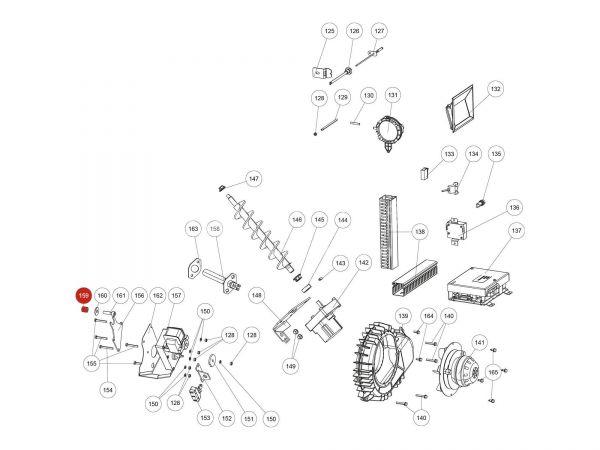 Silikonschlauch zu Rika Domo | N112609 | Splitzeichnung Nr. 159
