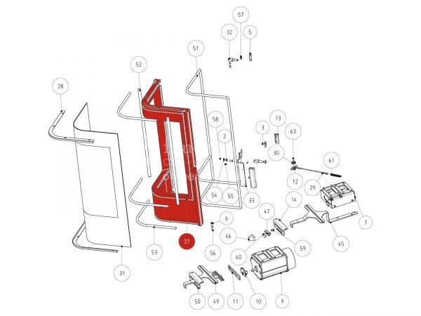 Rika Jazz Feuerraumtür | Z33656 | Splitzeichnung Nr. 27