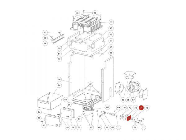 Lagerplatte zu Rika Domo | Z35851 | Splitzeichnung Nr. 74