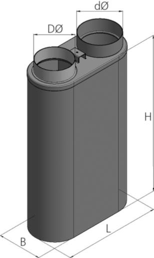 Ortrand Hoher Nachheizkasten HK 10/70/2 | Nachheizfläche für Warmluftofen | Stahlblech