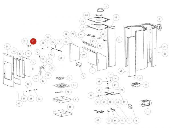 Rika Tema Türanschlagplatte | Z34233 | Splitzeichnung Nr. 27