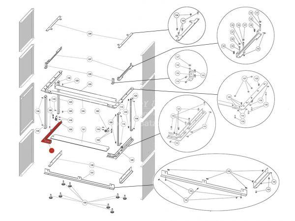 Rika Ambia Halterung für Seitenverkleidung links | B18661 | Splitzeichnung Nr. 117