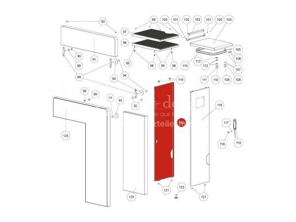 Seitenverkleidung links zu Rika Domo | L02715 | Splitzeichnung Nr. 120