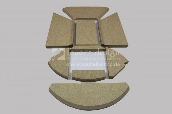 Skantherm Emotion M RLU Brennkammerauskleidung |  8- teilig | Skantherm Vermiculitesatz