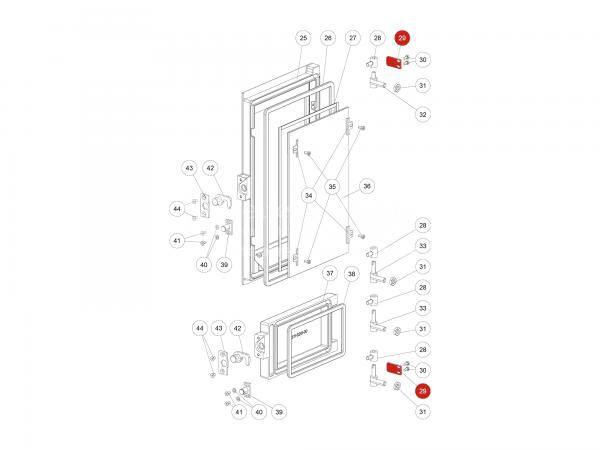 Türanschlagplatte zu Rika Domo | L02645 | Splitzeichnung Nr. 29