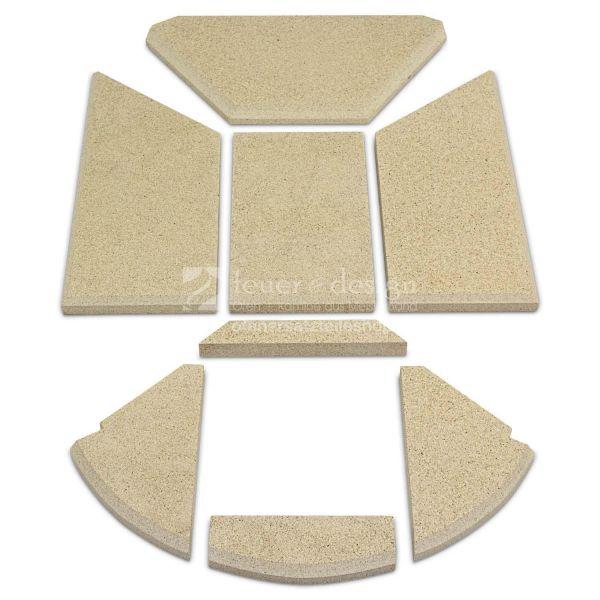 Skantherm Emotion M Vermiculitesatz   Produktnr.: 20   ohne Tertiärluft   Baujahr 2006-2007