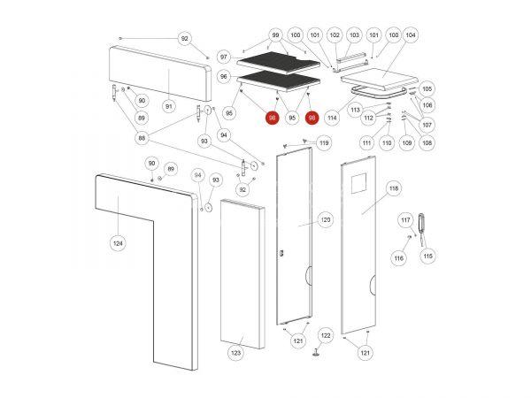 Schnappverschlussfeder zu Rika Domo   Z36001   Splitzeichnung Nr. 98