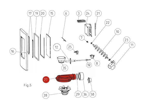 Rika Memo Gehäuse Saugzuggebläse | B16155 | Splitzeichnung Nr. 27