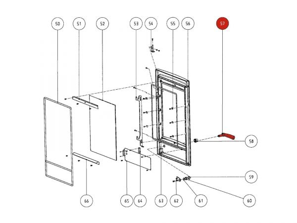 Rika Atrio Türgriff komplett | B14138 | Splitzeichnung Nr. 57