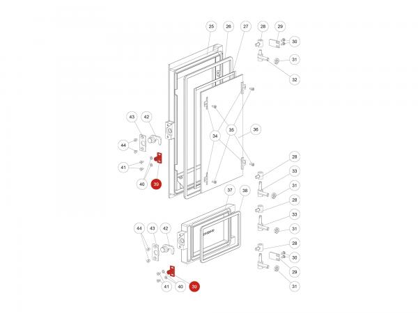 Verschlussplatte zu Rika Domo | B12322 | Splitzeichnung Nr. 39