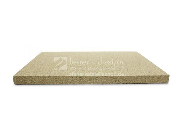 Umlenk Feuerraumplatte | 49,5 x 61 x 3 cm | Vermiculiteplatte HD 1200