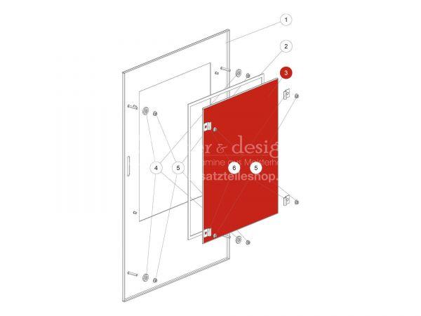 Dekorglas zu Rika Back | Z37178 | Splitzeichnung Nr. 3