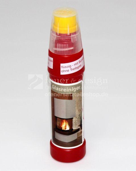 Aktiv-Glasreiniger Kamin Hagos 200ml | Flasche mit Bürstenkopf