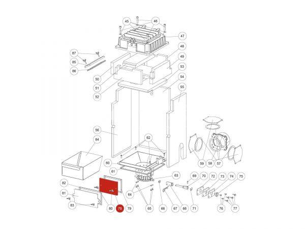 Putzdeckel zu Rika Domo | Z35999 | Splitzeichnung Nr. 78